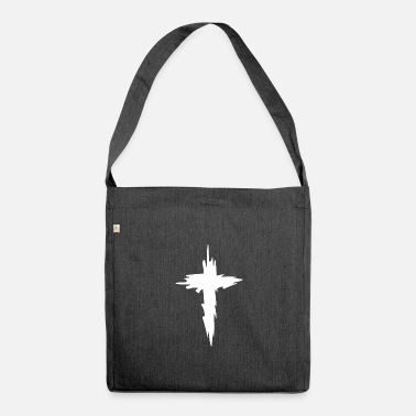 Christianity religion cross - Shoulder Bag recycled
