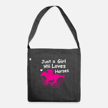 Horse Sayings Horse riding horse saying - Shoulder Bag recycled