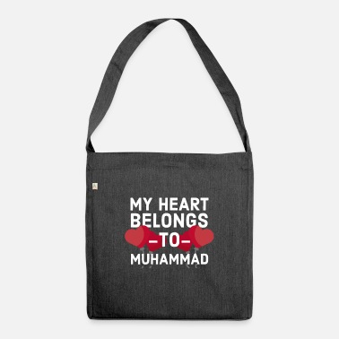 Muhammad My Heart Belongs To Muhammad - Shoulder Bag recycled
