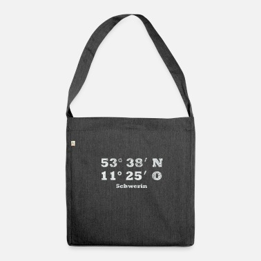 State Capital Schwerin state capital MV Meck Pomm gift - Shoulder Bag recycled