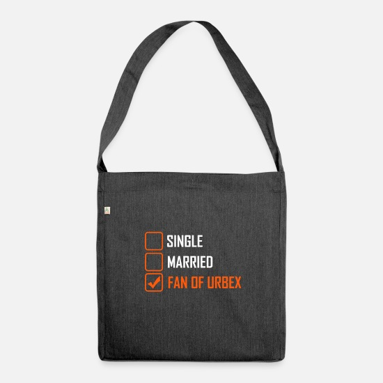 Single Bags & Backpacks - Fan Of Urbex - Shoulder Bag recycled heather black