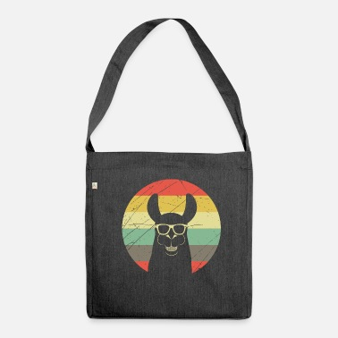 Andes Lama alpaca retro vintage gift funny cool - Shoulder Bag recycled