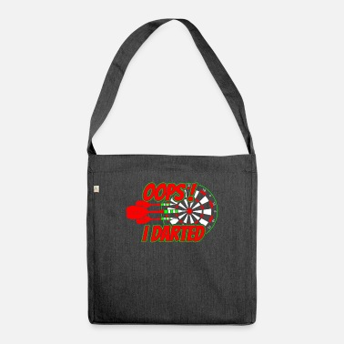 Oops Dart player saying - Shoulder Bag recycled