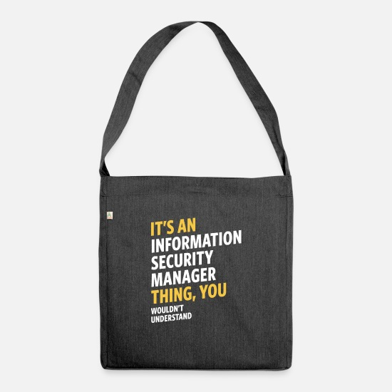 Security Bags & Backpacks - Information Security Manager - Shoulder Bag recycled heather black