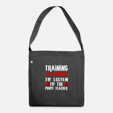 Training PDHPE Teacher - Training tiny humans to listen to - Shoulder Bag recycled