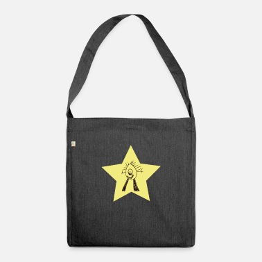 Dance Monster dancing monster star - Shoulder Bag recycled