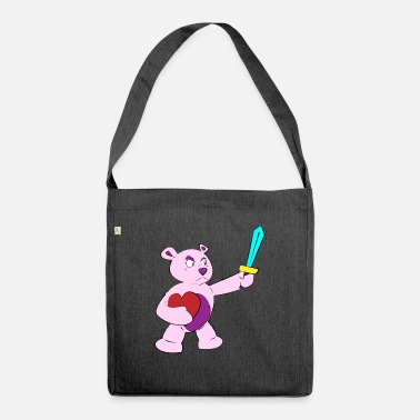 guardian teddy - Shoulder Bag recycled