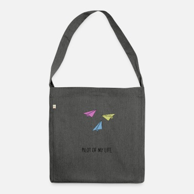 Paper paper airplane - Shoulder Bag recycled