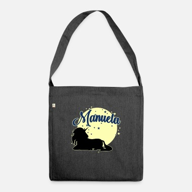 Womens Name Manuela name first name women girl - Shoulder Bag recycled