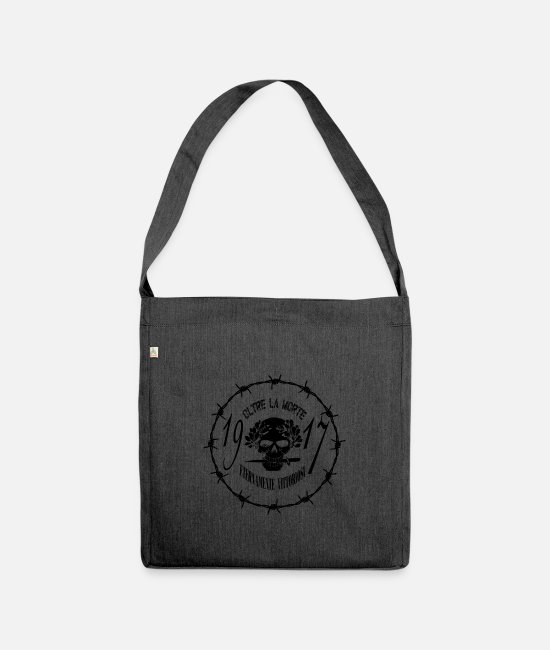 Christmas Bags & Backpacks - Beyond death - Shoulder Bag recycled heather black