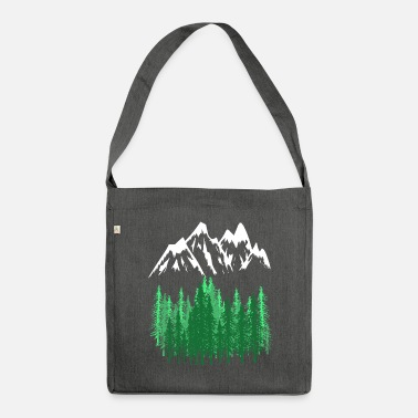 Mountains Mountains Mountains mountaineering - Shoulder Bag recycled