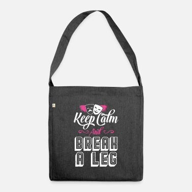 Keep Calm Underwear funny theater shirt - Shoulder Bag recycled