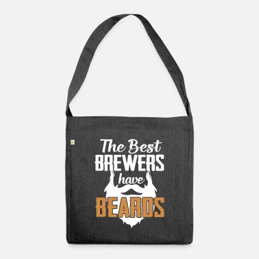 Bearded Beard bearded bearded bearer hipster - Shoulder Bag recycled