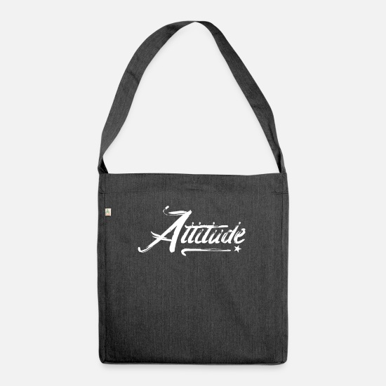 Gift Idea Bags & Backpacks - Attitude No. 10 - Shoulder Bag recycled heather black