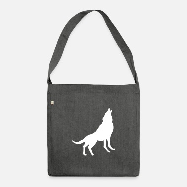 Yell Yelling Wolf - Shoulder Bag recycled
