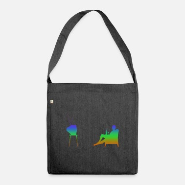 Television Television and television Rainbow Silhuette - Shoulder Bag recycled
