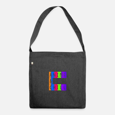 Anime & chill vintage retro - Shoulder Bag recycled