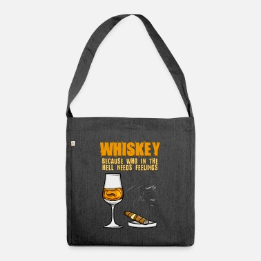 Whisky Whisky cigare et whisky - Sac bandoulière recyclé