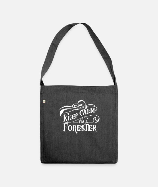 Nature Bags & Backpacks - Forestry forester forester forest forest team - Shoulder Bag recycled heather black