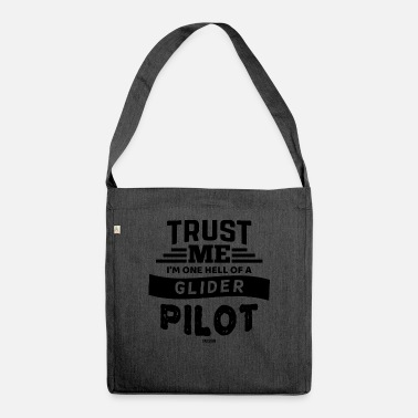 Glide Glider airport pilot updraft - Shoulder Bag recycled