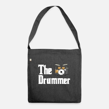 Drum Set Drums drumsticks band drum music vintage - Shoulder Bag recycled