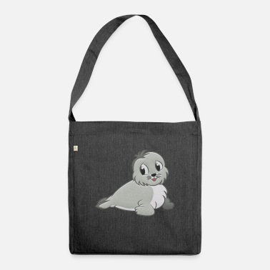 Seal-animal Seal stuffed animal - Shoulder Bag recycled