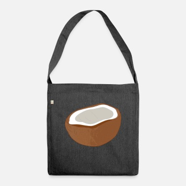 Coconut coconut coconut coconut palm - Shoulder Bag recycled
