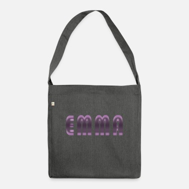 Birth Name Emma name first name name day birth gift idea - Shoulder Bag recycled