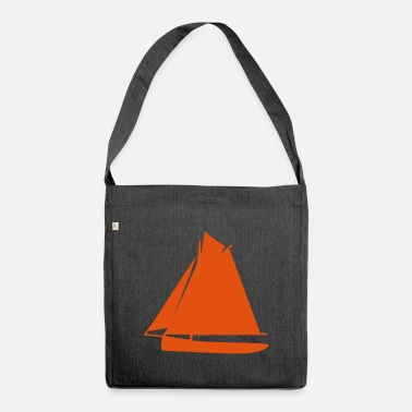 Sail Boat sailing boat - Shoulder Bag recycled