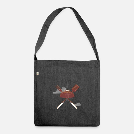 Love Bags & Backpacks - Barbecues and have fun - Shoulder Bag recycled heather black