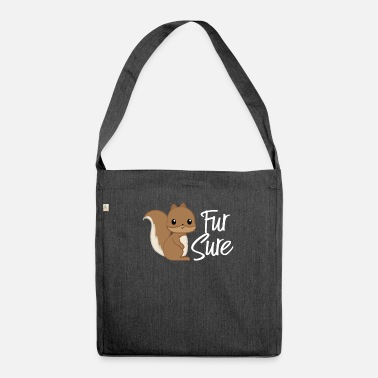Squirrel Squirrel - squirrel fan - squirrel - Shoulder Bag recycled