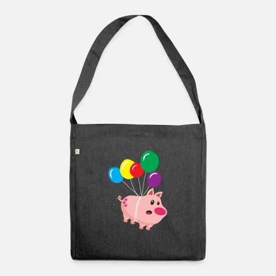 Hog Bags & Backpacks - Cool sow takes off - Shoulder Bag recycled heather black