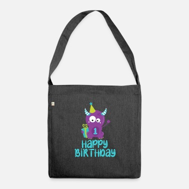 1st 1st Birthday, 1st Birthday - Shoulder Bag recycled