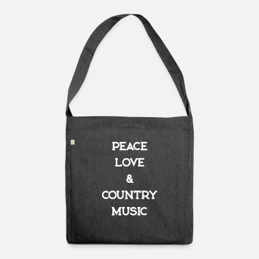 Countrymusic PEACE LOVE COUNTRYMUSIC - Schoudertas van gerecycled materiaal