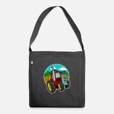 Manure Fork Tractor Farmer T-Shirt Gift Farmer Shirt - Shoulder Bag recycled