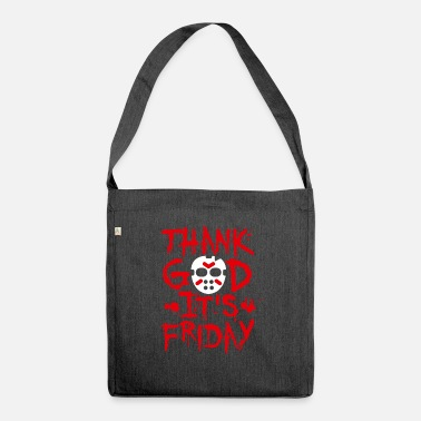Thank God it's Friday the 13th - TGIF Halloween - Shoulder Bag recycled