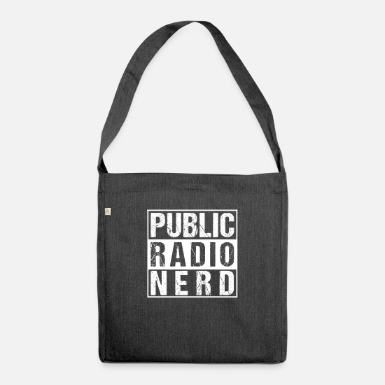 Private Bags & Backpacks - Public Radio Radio Operator Radio Club Nerd Amateur Sheet Music - Shoulder Bag recycled heather black
