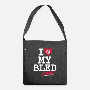 Tunisie I love MY BLED Tunisie - Shoulder Bag recycled