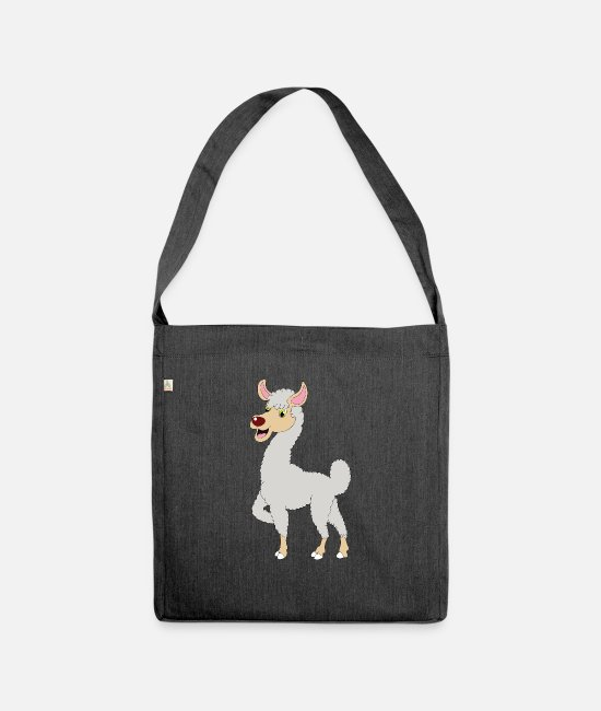 Ecuador Bags & Backpacks - Llama alpaca dromedary - Shoulder Bag recycled heather black