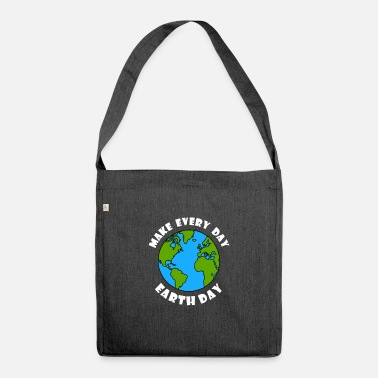 earth day Earth conservation protects the environment 2 - Shoulder Bag recycled