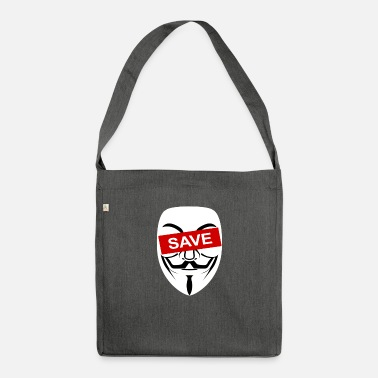Mask ANONYMOUS MASK Save Freedom Safe Web Internet - Shoulder Bag recycled