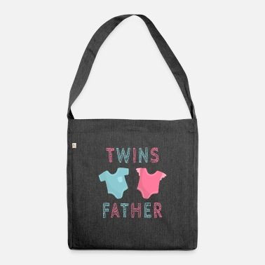 Vater Twin Twins Father - Vater - Shurt - Umhängetasche aus Recyclingmaterial