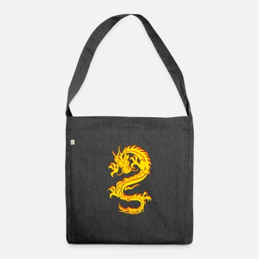 Chinese Dragon Dragon Tribal Tattoo - Shoulder Bag recycled