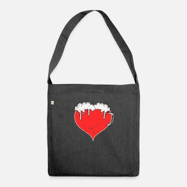 A heart for beer - Shoulder Bag recycled