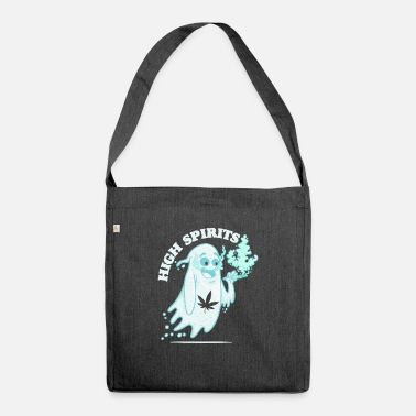 High-spirited High Spirits - Funny Halloween Pothead Stoner - Shoulder Bag recycled