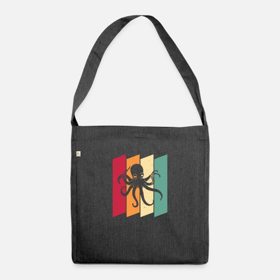 Gift Idea Bags & Backpacks - Octopus octopus diving octopus gift - Shoulder Bag recycled heather black