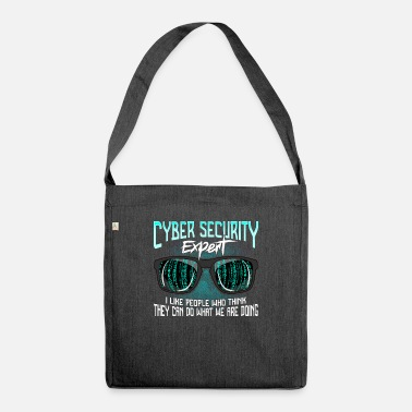Computer Cyber Security Hackers Hack IT Security Funny - Shoulder Bag recycled