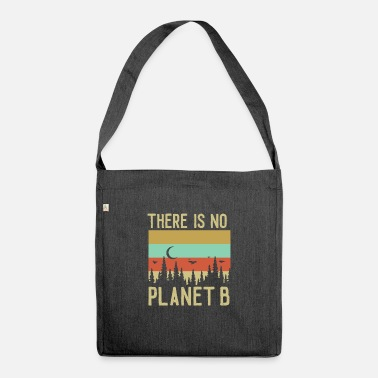 There is no planet B retro Optic - Umhängetasche aus Recyclingmaterial