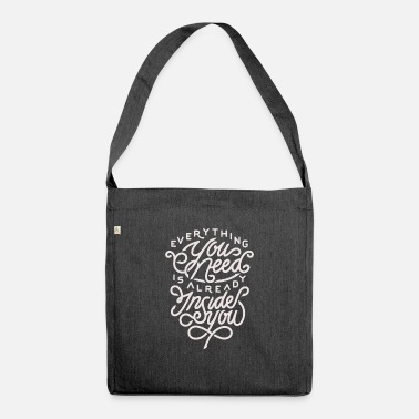 Motivational Motivation motivational quote - Shoulder Bag recycled