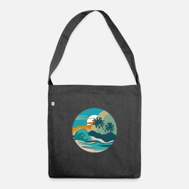 Bees Wolf Beach wave beach lover or tourist gift - Shoulder Bag recycled